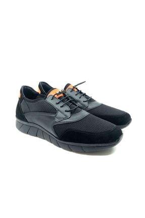 TETRİ Erkek Siyah Atak Hakiki Deri Sneaker Ayakkabı