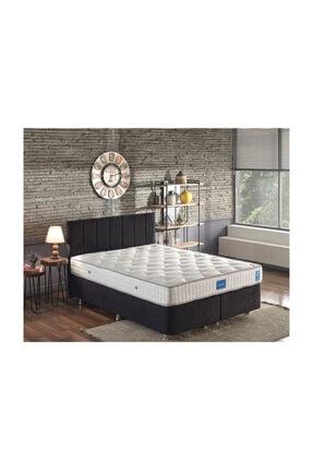 Niron Yatak Niron Juliette 150x200 Cm Çift Kişilik Lüks Yatak Seti - Siyah Kumaş Baza, Başlık Ve Yatak Takımı