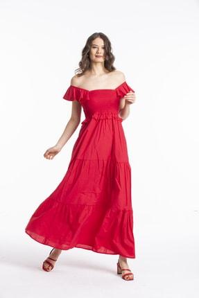 Pitti Kadın Fuşya Kırmızı Elbise 51085