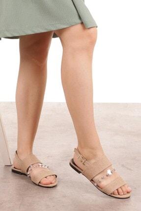 Mio Gusto Denise Hasır Taşlı Sandalet