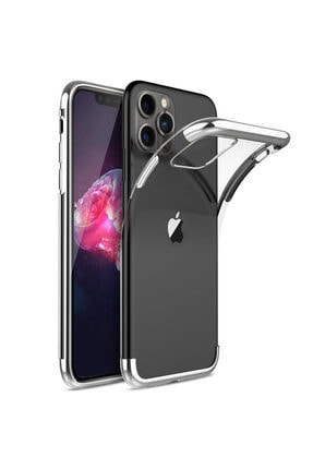 Apple Iphone 11 Pro Max Kılıf Lazer Boyalı Renkli Esnek Silikon Şeffaf