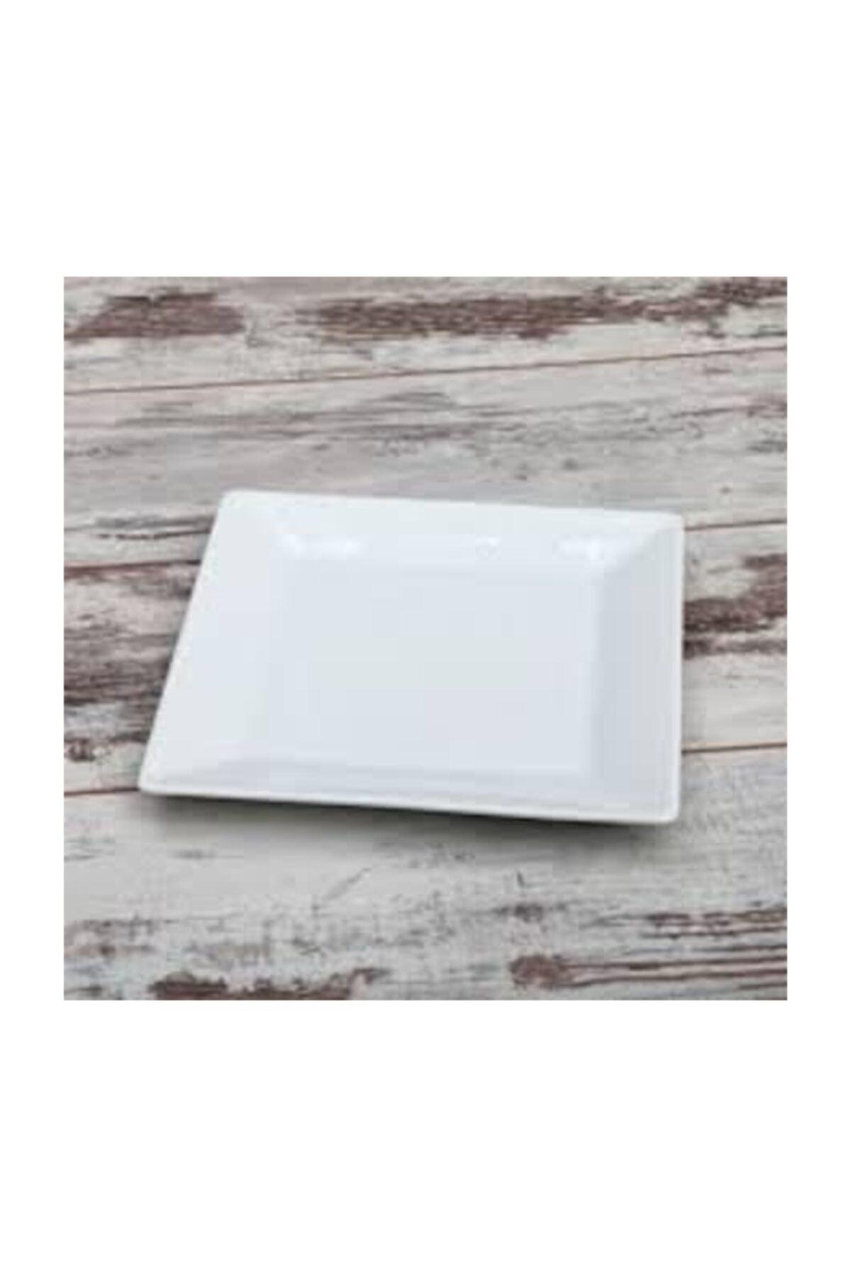 Güral Porselen Kare Servis Tabağı 6'lı 21*21 cm 1