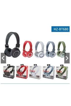 Gigi Mikrofonlu Kulak Üstü Extra Bass Siyah Kablosuz Bluetooth Kulaklık Hz-bt680 Kırmızı