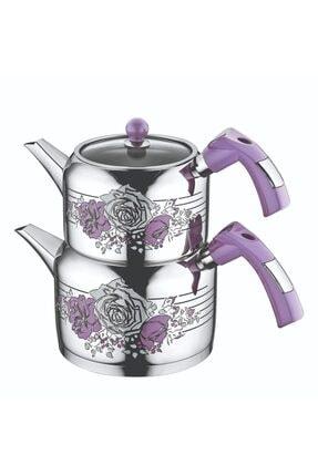Evimsaray Rose Dekorlu Mini Boy Çaydanlık Takımı