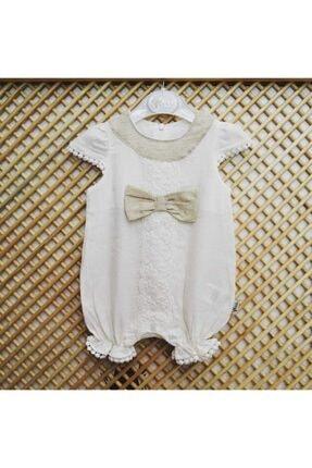Flexi Tül Detaylı Fiyonklu Kız Bebek Tulum