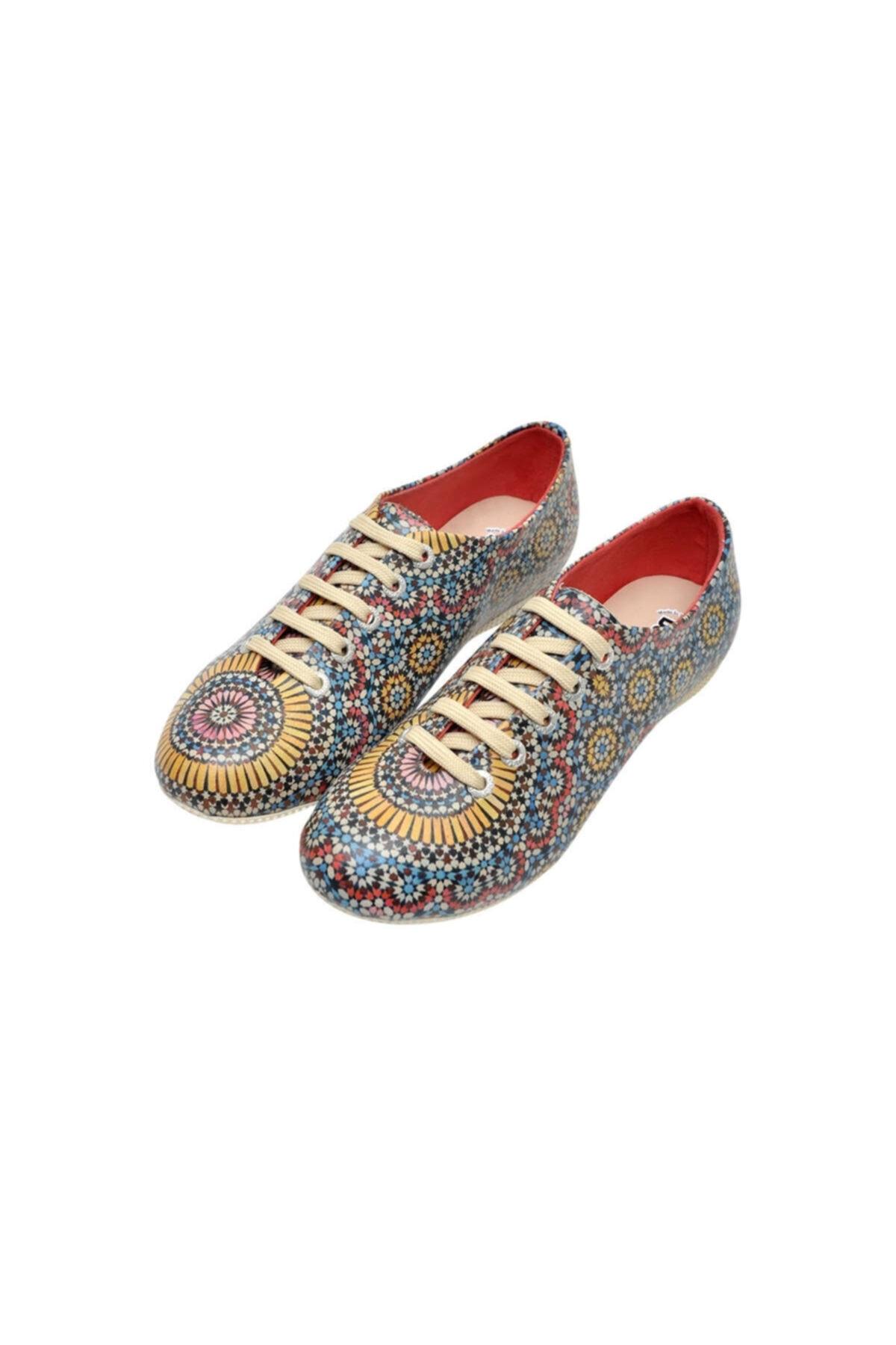 Dogo Kadın Bej Colorful Oxford Ayakkabı 1