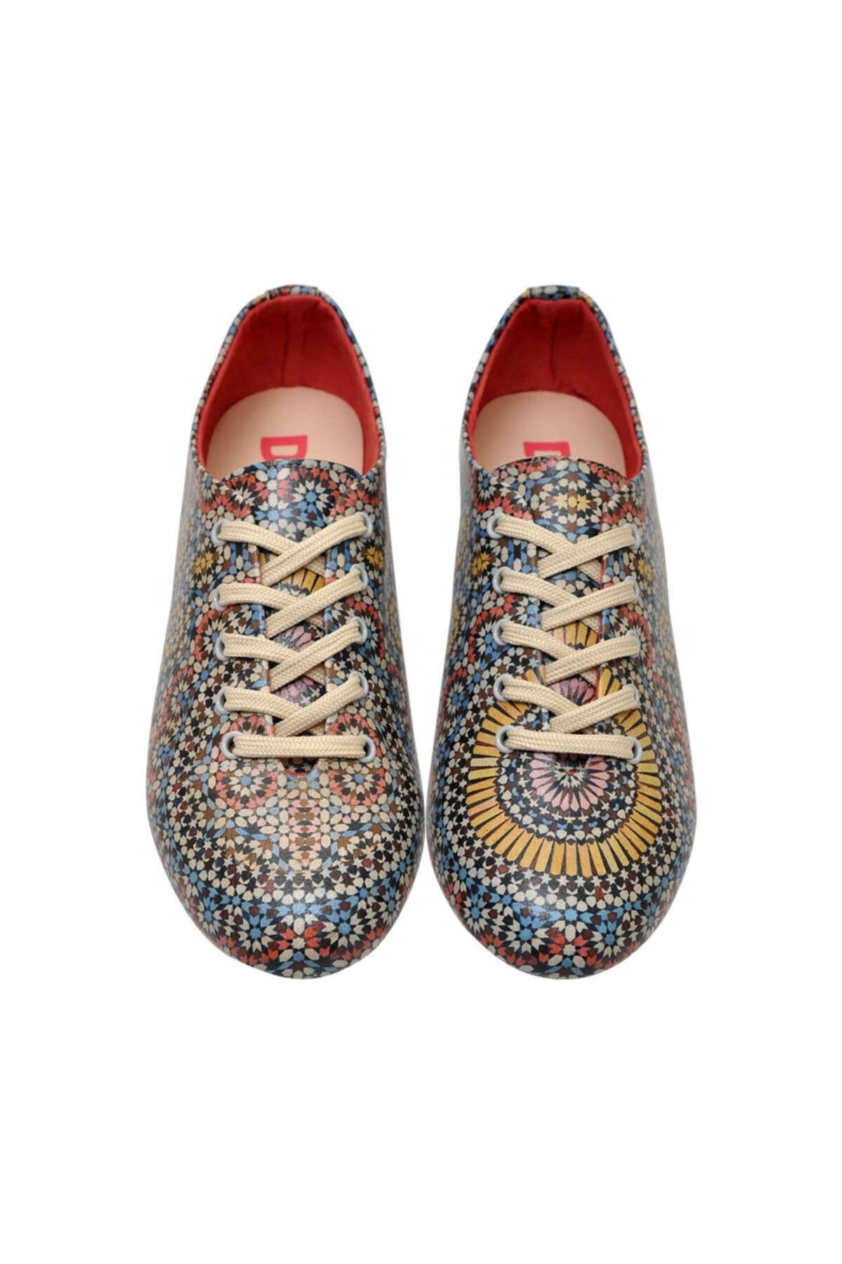 Dogo Kadın Bej Colorful Oxford Ayakkabı 2