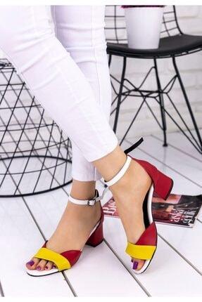 pabucmarketi Sarı Cilt Renkli Topuklu Ayakkabı