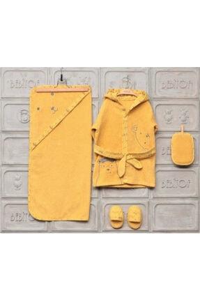 Bebitof Erkek Kız Bebek Bornoz Seti 0-3 Yaş 888