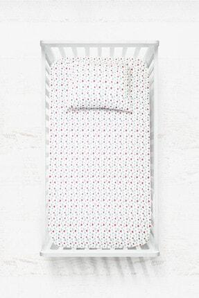 COTENCONCEPT Kalpli Lastikli Bebek Çarşaf + Yastık Kılıfı 70x140 cm