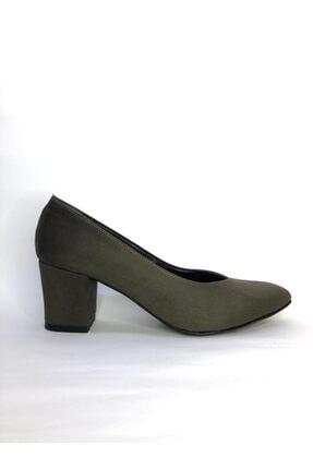 Büşra Sultan Ayakkabı Kadın Haki Süet Klasik Ayakkabı