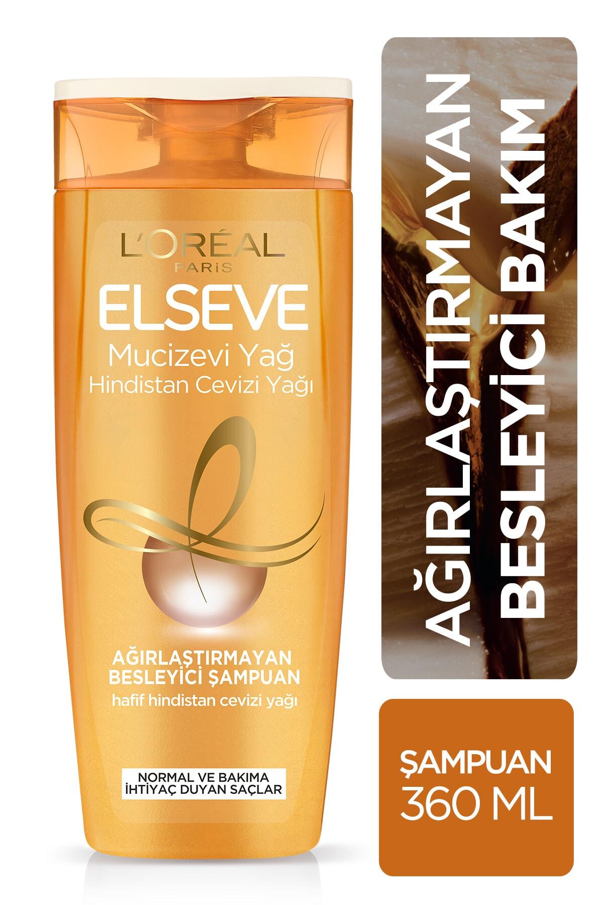 ELSEVE Mucizevi Hindistan Cevizi Yağı Ağırlaştırmayan Besleyici Şampuan 360 ml 1