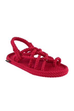 Nomadic Republic Kadın Halat & Ip Sandalet - Kırmızı
