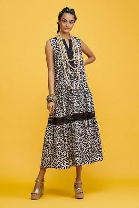 adL Kadın Leopar Sıfır Kol Elbise 124C1722000758