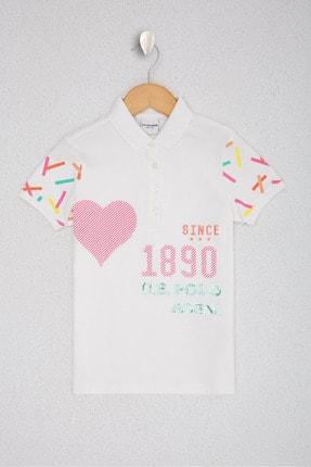 U.S. Polo Assn. Off Whıte Kız Çocuk T-Shirt