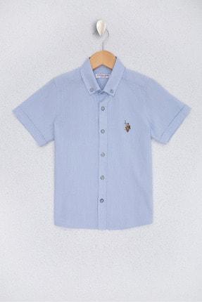 U.S. Polo Assn. Acik Mavi Erkek Çocuk Dokuma Gömlek