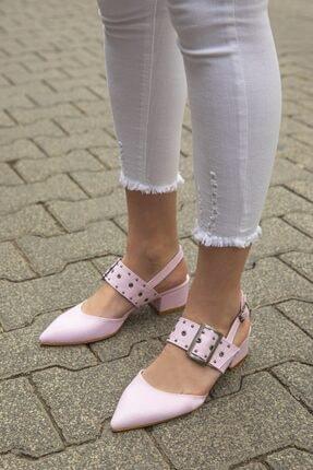 STRASWANS Amelia Kadın  Lila Deri Topuklu Ayakkabı