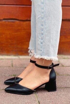 STRASWANS Jacey Kadın Siyah Deri Topuklu Ayakkabı