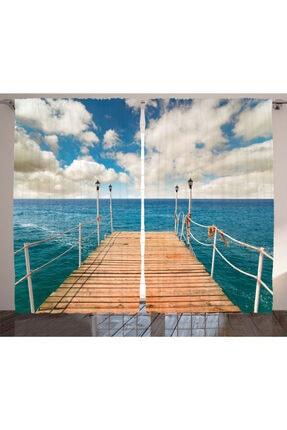 Orange Venue Deniz Ve Okyanus Bulut Gökyüzü Ve Deniz Rengirenk Perde
