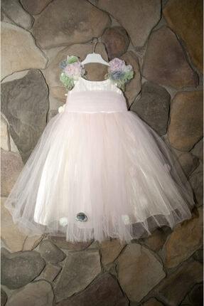 Elif Bebe Çocuk Pembe Abiye Elbise