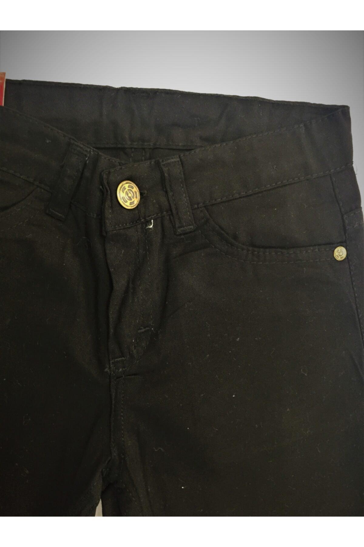 Elif Bebe Çocuk Siyah Keten Pantolon 2