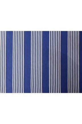 Evim Ceylan Home Balkon Perdesi Brandası 550/250 Mavi Çizgili