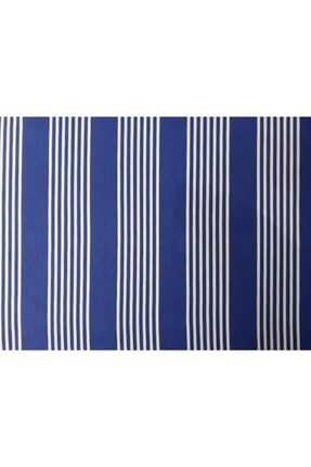 Evim Ceylan Home Balkon Perdesi Brandası 575/250 Mavi Çizgili
