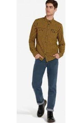 WRANGLER Erkek Sarı Kareli Flap Shırt Gömlek