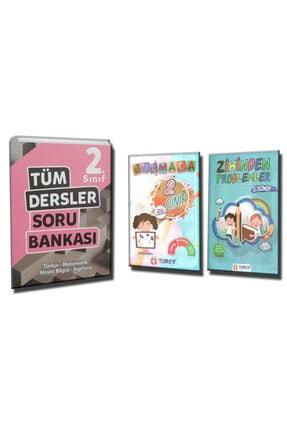 Tudem Yayınları 2. Sınıf Tüm Dersler Soru Bankası  2.Sınıf Bulmaca ve 2.Sınıf Zihinden Problemler