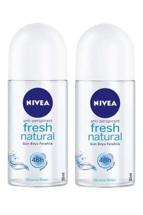 Nivea Roll On Bayan 50 ml Fresh Natural 2 Adet