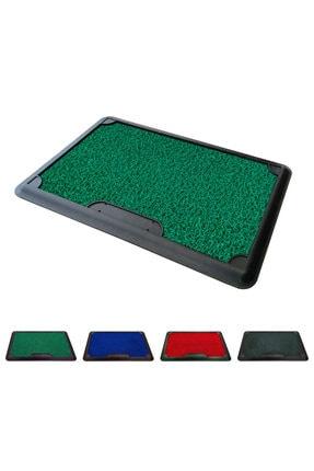 OLUNCA Dezenfektan Havuzlu Kıvırcık Kapı Önü Hijyen Paspas - 45x70 cm - Yeşil - Green