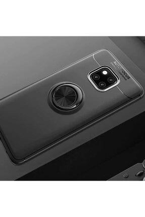 Huawei Mate 20 Pro Kılıf Yüzüklü Standlı Ve Mıknatıs Özellikli Lüx Silikon