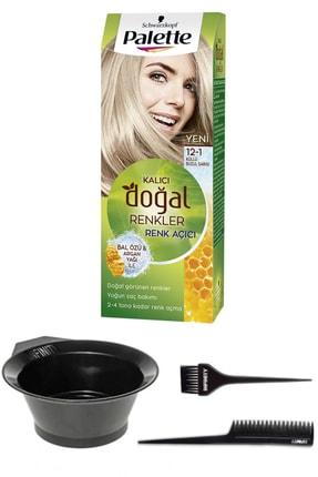 SCHWARZKOPF HAIR MASCARA Palette Naturel 12-1 Sarı Sandre Saç Boyası + Saç Boyama Seti