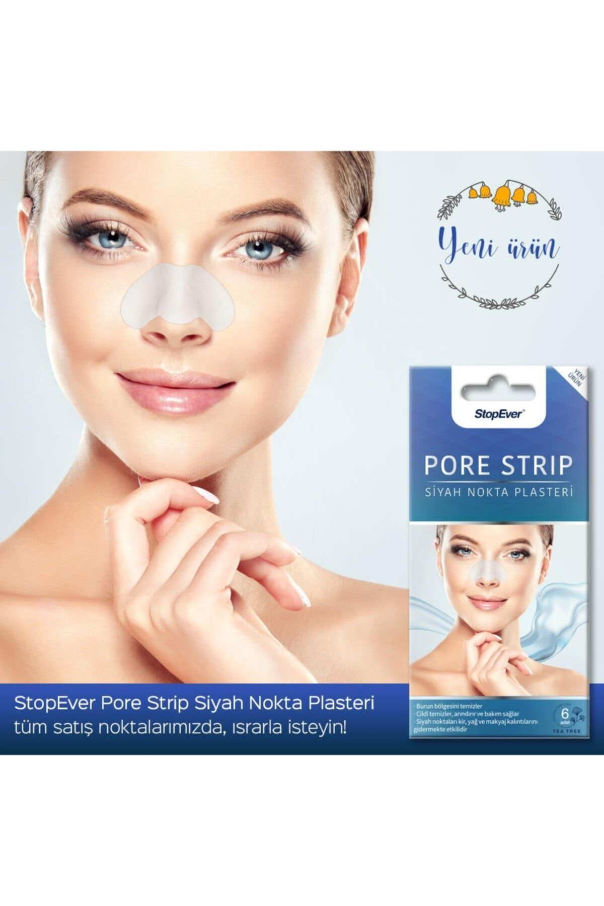 StopEver Siyah Nokta Bandı Pore Strip 2