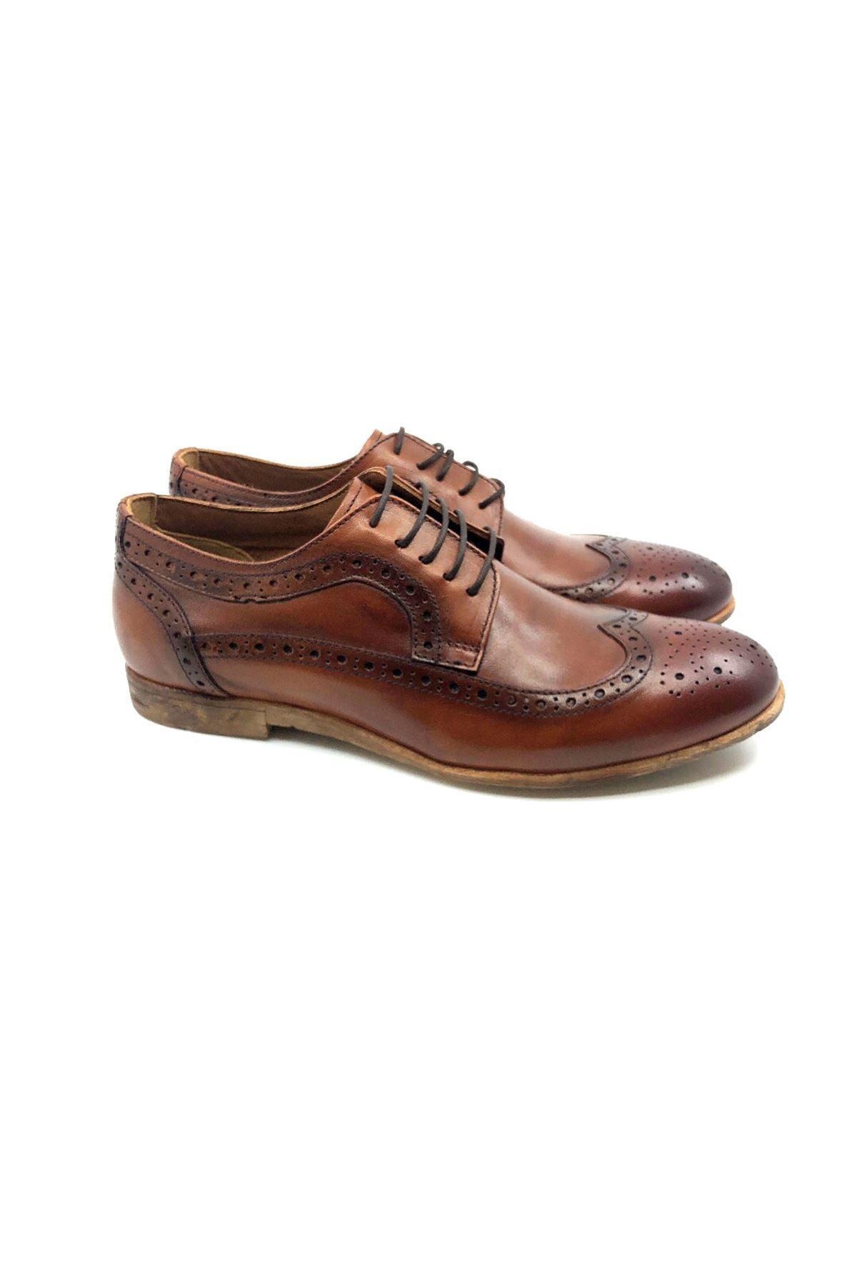 TETRİ Erkek Kahverengi Deri Klasik Ayakkabı 1