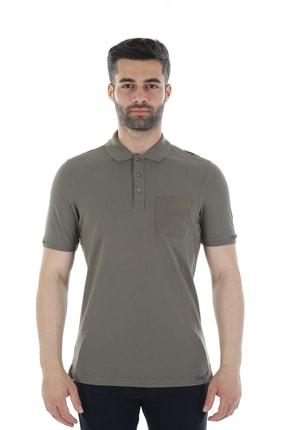 Diandor Polo Yaka Slim Fit Erkek Tişört Haki/Khaki 1817007