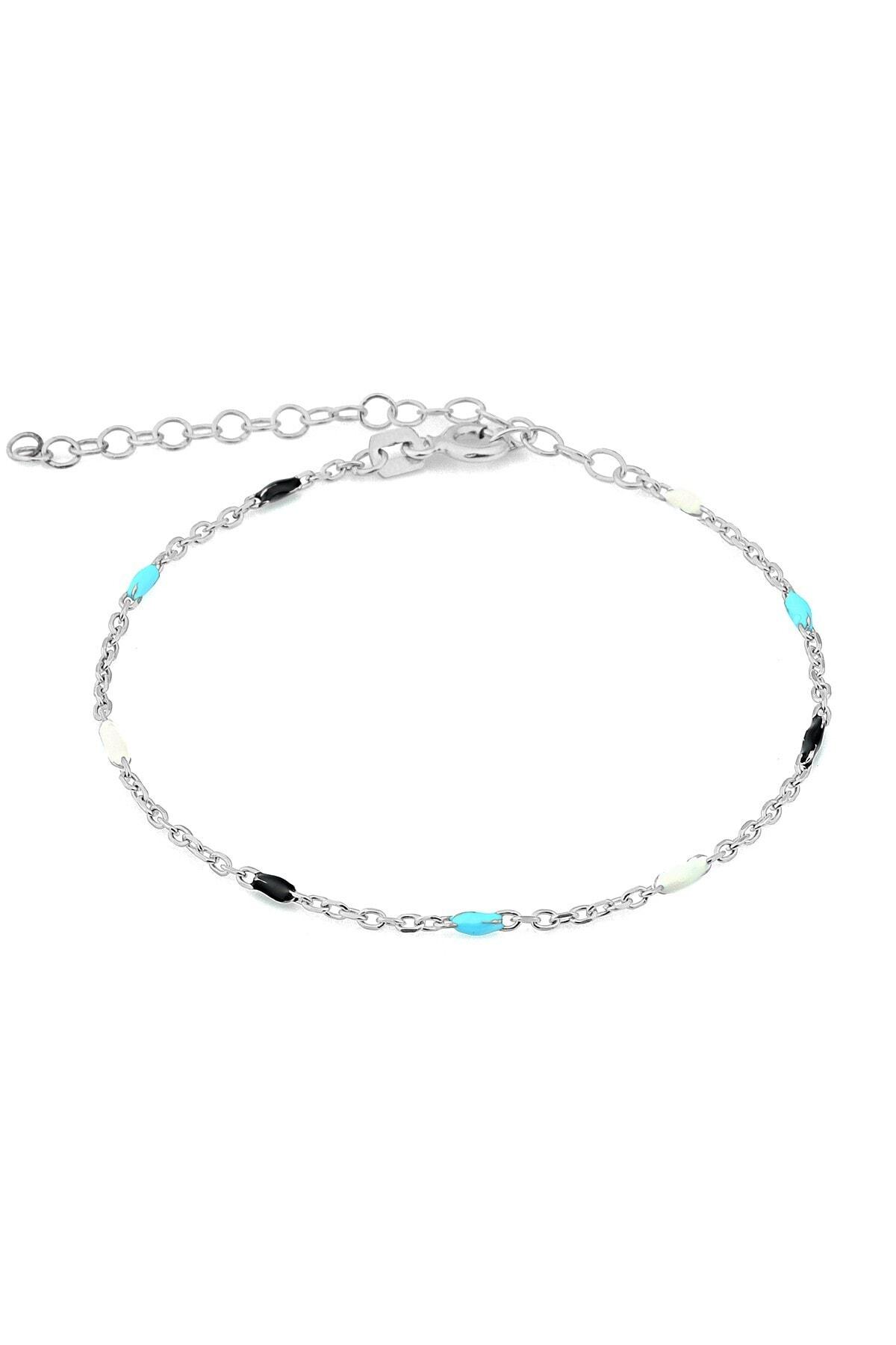 MySilvers Renkli Mineli Gümüş Bileklik 1
