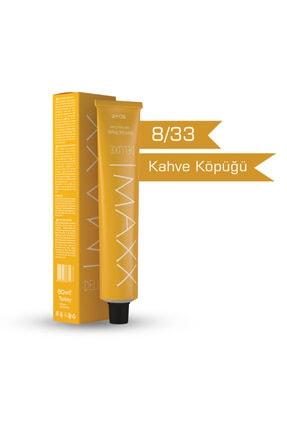 MAXX DELUXE 8/33 - Kahve Köpüğü Krem Saç Boyası - 60ml