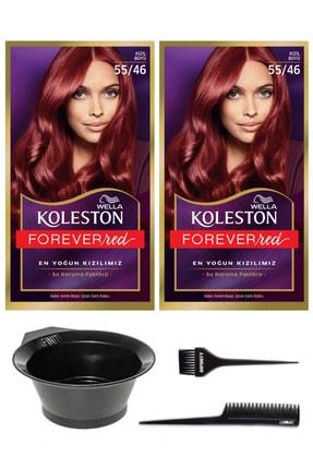 Wella 2'li Koleston Kit 55/46 Boya Kızıl Büyü ve Saç Boyama Seti