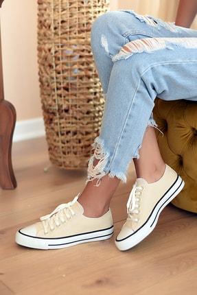 Pembe Potin Kadın Bej Casual Ayakkabı