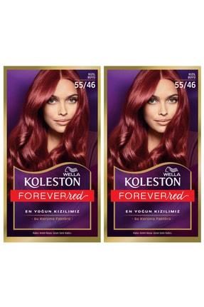 Wella 2'li Koleston Kit 55/46 Kızıl Büyü Saç Boyası