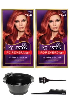 Wella Koleston Kit 2'li 77/44 Boya Kor Ateşi Kızılı ve Saç Boyama Seti