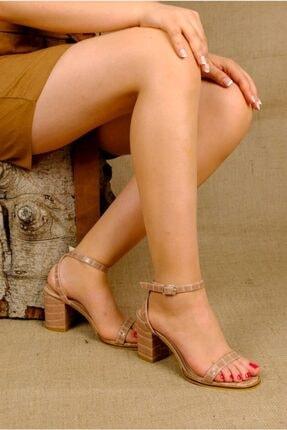 Rollerbird Caiman Somon Kroko Topuklu Ayakkabı