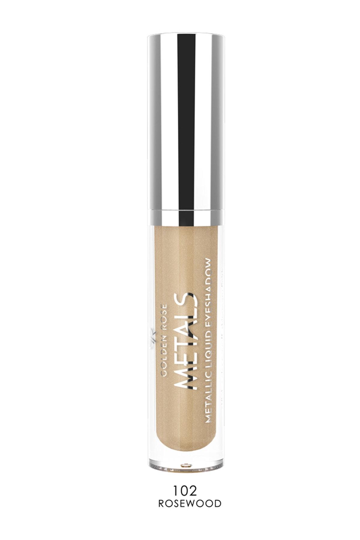 Golden Rose Likit Metalik Göz Farı - Metals Metallic Liquid Eyeshadow No: 102 Rosewood 8691190137526 1