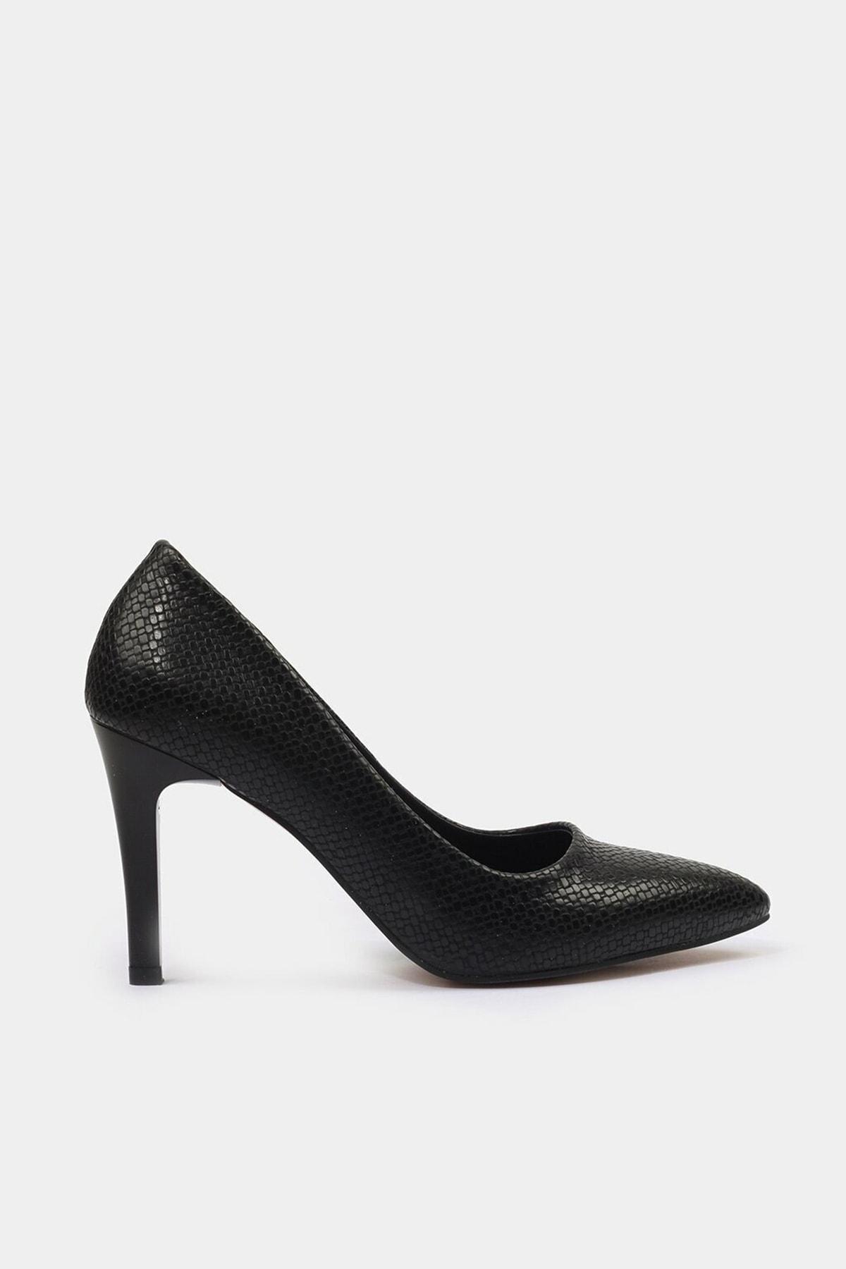 Hotiç Siyah Yaya Kadın Topuklu Ayakkabı 1