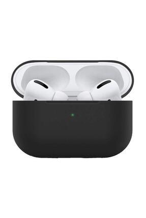 Melefoni Apple Airpods Pro Kılıf İnce Slim Zar Silikon siyah