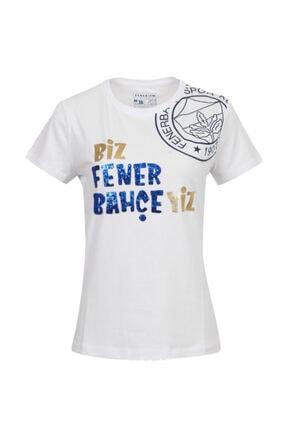 Fenerium Kadın Beyaz Tribün Biz Fenerbahçeyiz  Spor T-Shirt