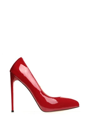 Cengiz Gümüş Kırmızı Rugan Stiletto