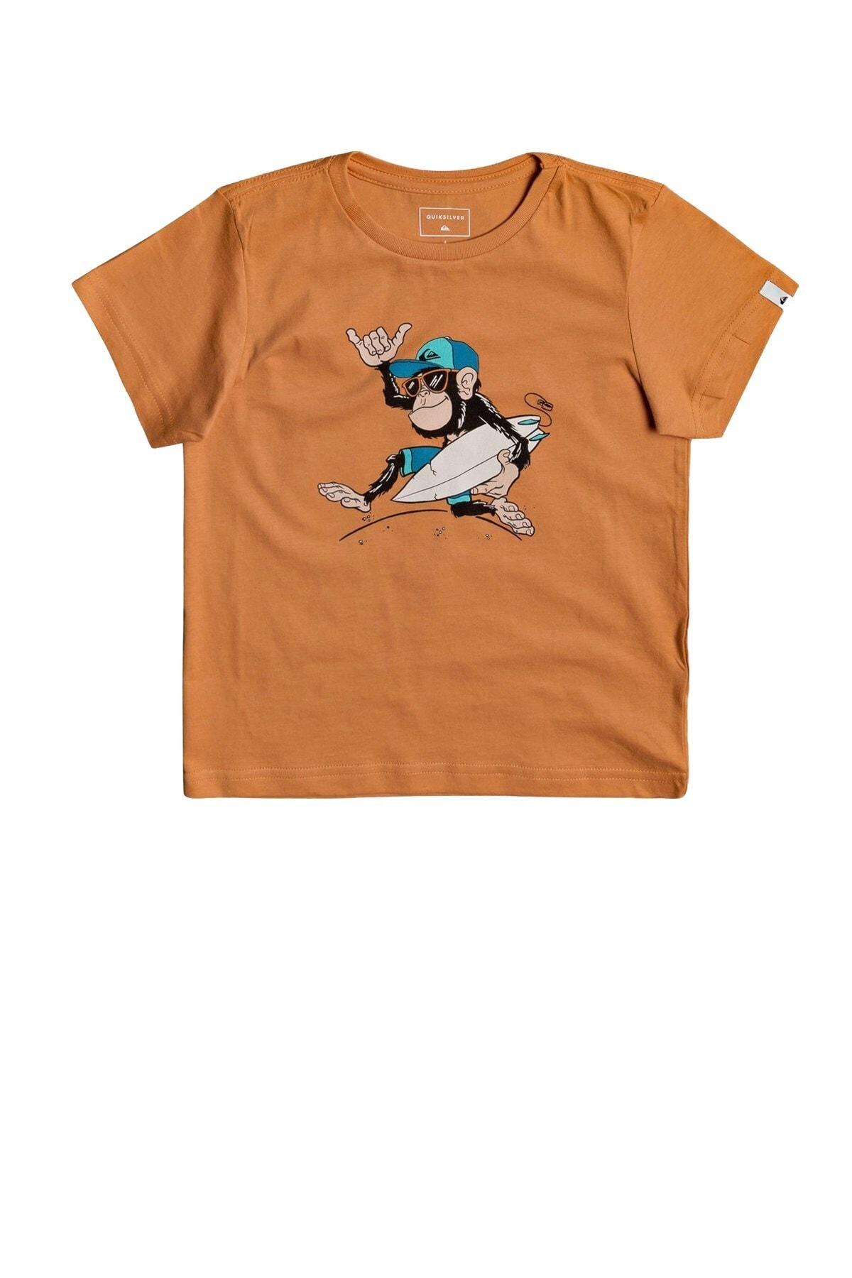 Quiksilver Erkek Çocuk Turuncu Banalleys Boy T-shirt Eqkzt03372-nlf0 1