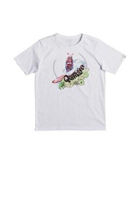 Quiksilver Çocuk Beyaz Classic Log Bear T-shirt Eqbzt03668t
